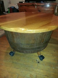 Antique Barrel Storage Table Lancing, 37770