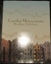Canadian microeconomics problems and policies Mississauga
