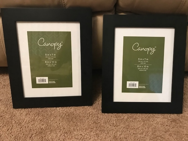 2 black picture frames