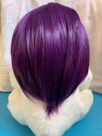 Purple Wig + clip-on ponytail