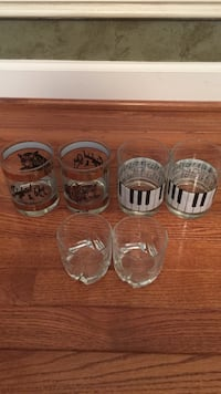 Set of six old fashioned drinking glasses Brookeville, 20833