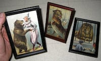 ANTIQUE CIRCUS LITHOGRAPH PRINTS  / 19TH CENTURY / 1800'S VICTORIAN / BARNUM AND BAILEY CIRCUS  ALDEN