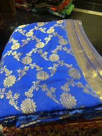Blue and white floral textile Bengaluru, 560001