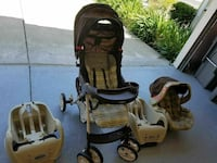 baby's beige and white travel system Dublin, 94568