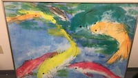 Yellow and blue fish painting  beautiful colors