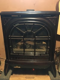 Brown electric fireplace Chatham