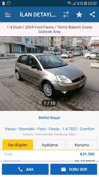 Ford - Fiesta - 2004 Kentkoop Mahallesi, 06370