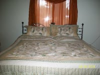 brown and white bed sheet set HERNDON