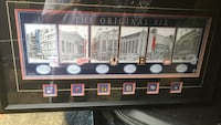 Lithograph print featuring the Original Six Arenas. Comes framed with matting, plaque, and collector pins.     Burnaby, V5J 4V3