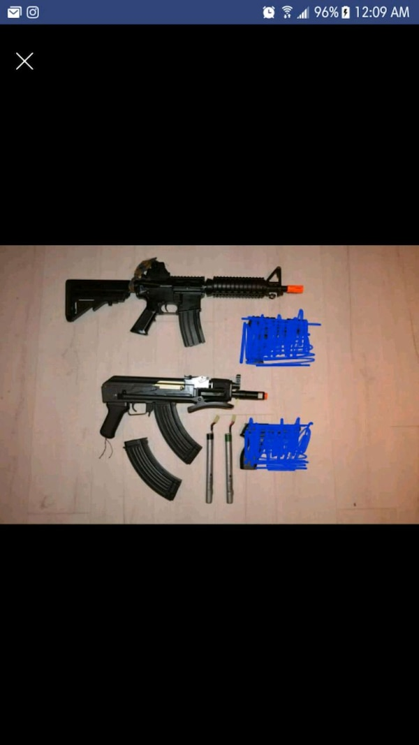 Two airsoft rifles fully functional