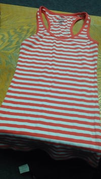 women's white and red stripe dress Prince George, V2L