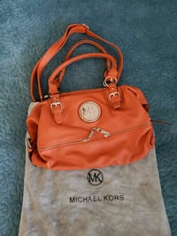 orange leather Michael Kors tote bag Bowie, 20715