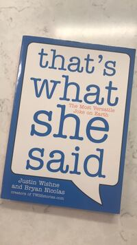 FREE SHIPPING - That's what she said book - NEW Philadelphia, 19127