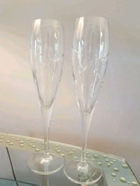 Real crystal champagne flutes. With live birds  Kelowna, V1P 1N2