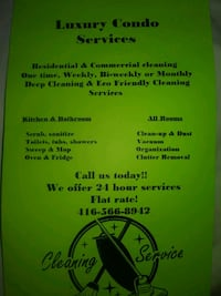 Condo/Home/office Cleaning Toronto, M9R 4B9