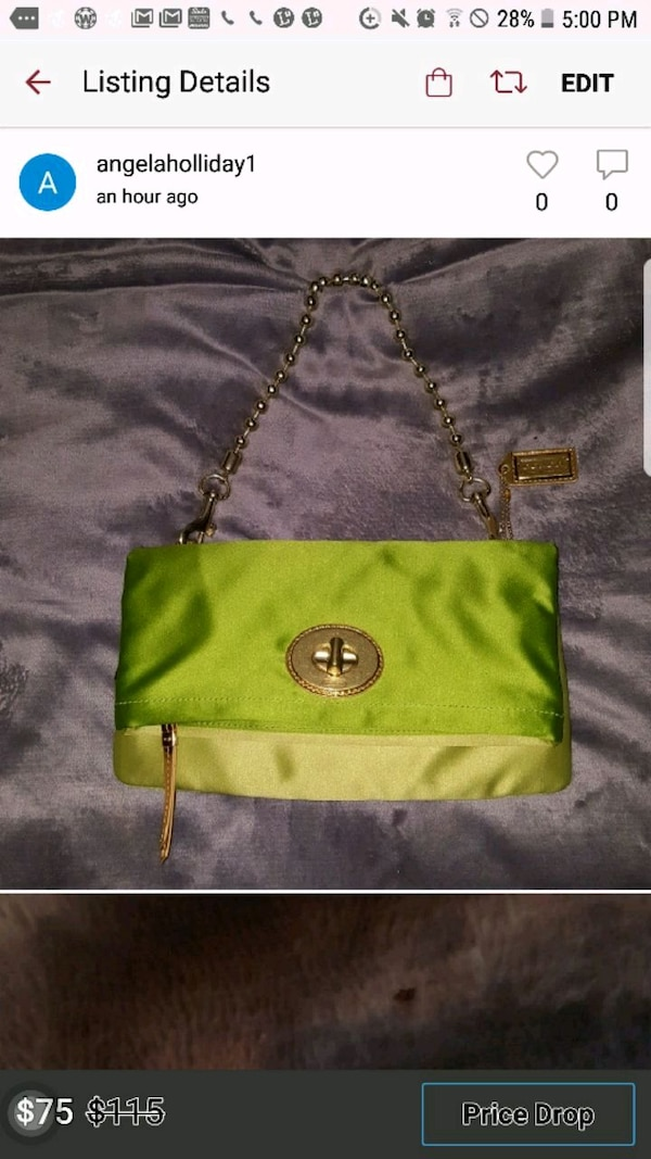 c511e87af57e Used green leather Michael Kors crossbody bag for sale in Meridian ...