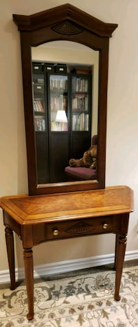 Solid wood matching table and mirror Oakville, L6M 0C7
