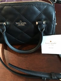 Kate Spade black quilted crossbody mini bag