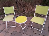 two green and white metal chairs Vaughan, L4K