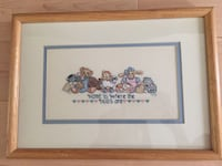 Hand stitched custom wall decor, custom matted and framed  Woodbridge, 22193