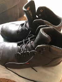 pair of black leather work boots Hamilton, 45013