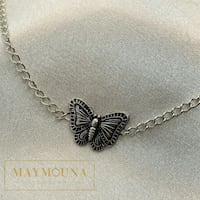 Oxidized Butterfly Choker 925 sterling silver Kitchener, N2E 2A3
