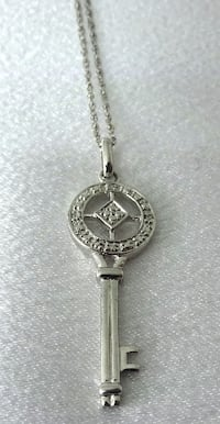 Key Pendant Necklace in Sterling Silver