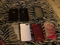 Seven assorted iphone cases