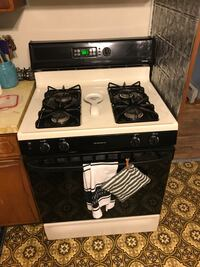 white and black gas range oven Newfield, 08344
