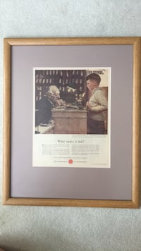 Norman Rockwell photograph in a frame  Centreville, 20120