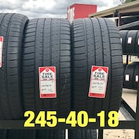 2 used tires 245/40/18 Michelin Pilot