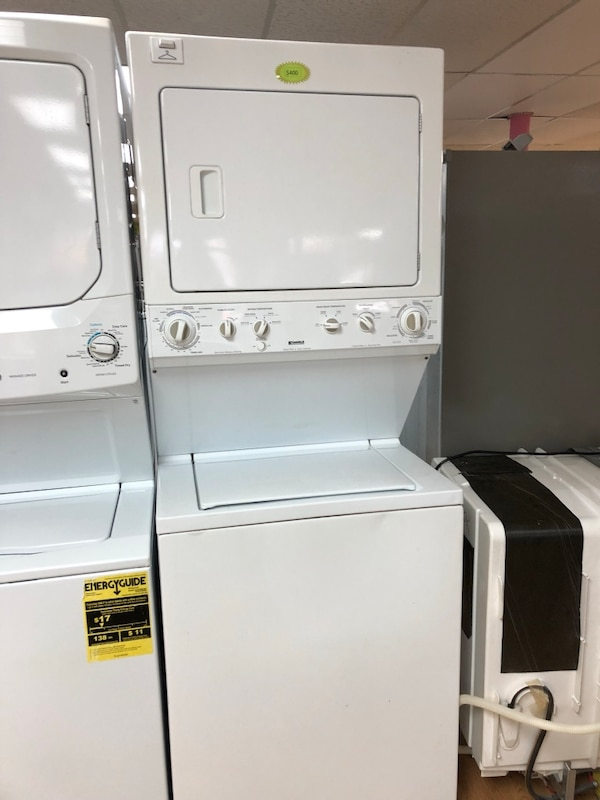 """Kenmore white stacked washer and dryer unit 27"""""""