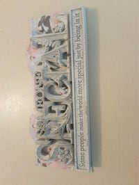 Gorgeous Bowring plaque NEW  Whitby, L1N 8X2