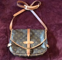 brown and white monogram canvas Louis Vuitton leather crossbody bag Springfield, 97477