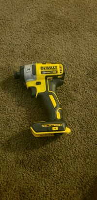 yellow and black DEWALT cordless impact wrench 162 mi