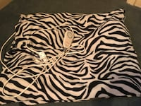 Zebra print heating blanket