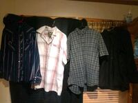 Men's Button Up Shirts Size LG Hanover, 17331