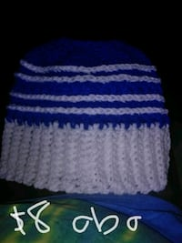 blue and white knitted textile Somerset, 42501