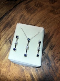 Sapphire and Diamond necklace/earring set.