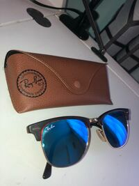 Ray-Ban Clubmaster Classic with blue lenses