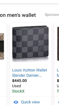black and gray Louis Vuitton leather wallet Chicago, 60609