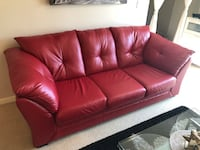 Nice Red 3 Seater Couch (Like New) Surrey, V3T 0B8