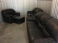 Black sofa , loveseat and single seat with ottoman!!! Arlington, 22206