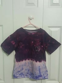 purple and pink floral scoop-neck shirt Citrus Springs, 34434