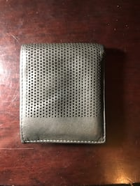 gray leather wallet