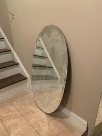 "Frameless oval bathroom mirror, approx. 36"" Inwood, 25428"