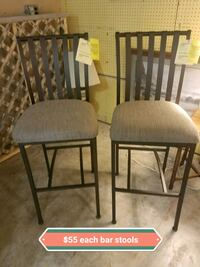 two black metal framed gray padded chairs Winchester, 22601
