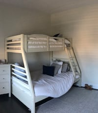 White Bunk Bed Twin over Full - AVAILABLE TODAY!!