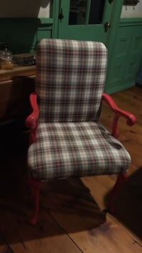 Red and white plaid padded armchair Newtown Square, 19073