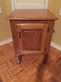 Country night table solid oak